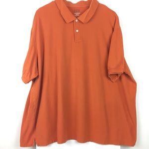 119b7177 Harbor Bay Shirts - Harbor Bay // 5XLT mens orange short sleeve polo